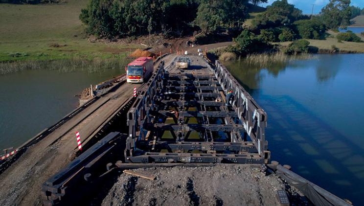 Puente modular en construccion