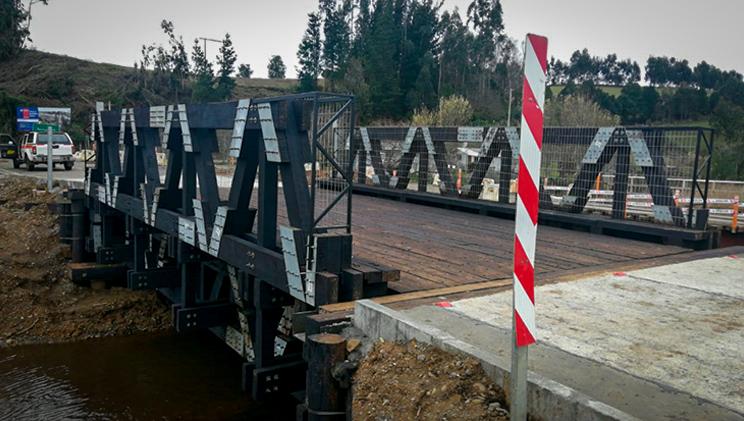 Puente modular terminado y en uso
