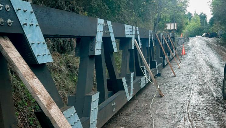 Puente modular en terreno