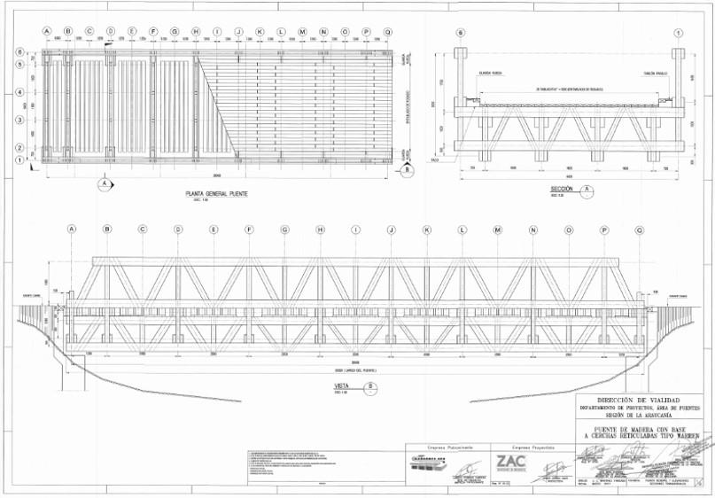 Plano puentes modulares