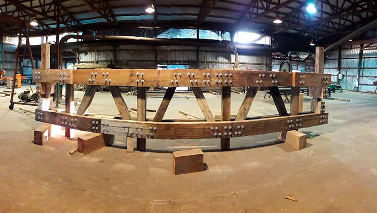 Estructura en planta puentes modular