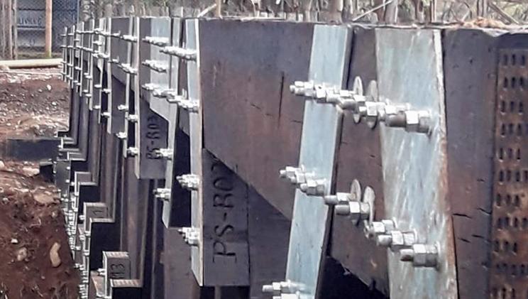 puentes modulares vista parcial estructura